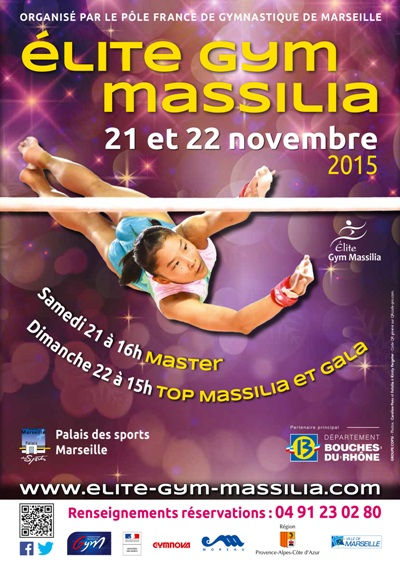 Elite Gym Massilia - du 20 au 22 Novembre 2015 - Marseille (France)