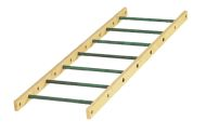 Large straight ladder with 7 rungs