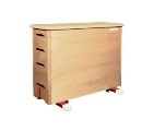 Straight-sided solid wooden box - 150 x 50 x 110 cm (LxWxH)
