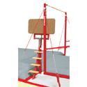 Access and spotting platform + safety kit to prevent injuries when adjusting height - fixing bolts and anchors included without chemical seal