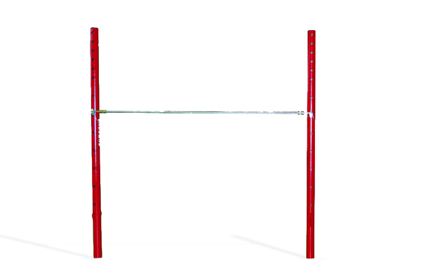 High bar without cables (1 rail) - distance between uprights 2,40 m (*)