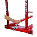 Parallel bars for schools Ref 3900 with transport trolleys