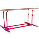 Parallel bars for schools Ref. 3901 with folding feet and transport trolleys