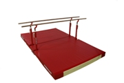 "Compact"" parallel bars Ref. 3910 with custom folding mat Ref. 7080"