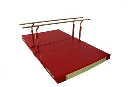 "Compact"" parallel bars Ref. 3921 with custom folding mat Ref. 7080"