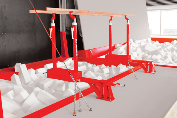 Pit mounted folding parallel bars without Refill and Sleeving Epcon