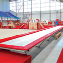 "Linear trampoline ""acrotramp"" in 12.70 m long"