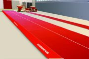 Spring Acrobatic track 13.50 x 2 m with roll-up mats (*)