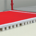 ACROBATIC TRACK - FOAM AND CARPET TRACK - 1.50 x 2 m - WITH PIT JUNCTION (*)