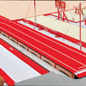 Competition tumbling track with running-up and landing areas - FIG approved