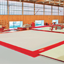 "LONDON"" COMPETITION EXERCISE FLOOR WITH OVERLAY CARPET - 14 x 14 m (*) - FIG Approved"
