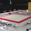 """Competition Spring Floor 14 x 14 m  """"Glasgow"""" with carpet (*) - FIG approved - Version with unmounted springs<br>"""