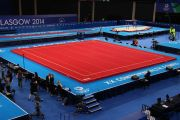 "GLASGOW"" TRAINING SPRING EXERCISE FLOOR WITH ROLL-UP TRACKS (SPRINGS NOT ASSEMBLED) - 13 x 13 m (*)"