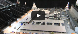 Time lapse video of the assembly of the competition set at the European Championships